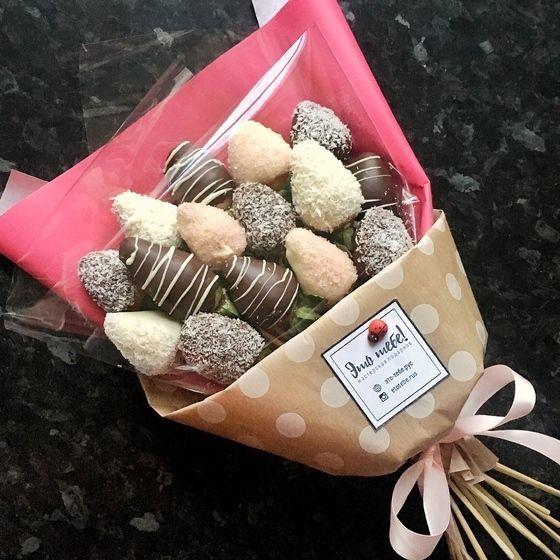 Клубника в шоколаде - Купить съедобные букеты с доставкой на дом