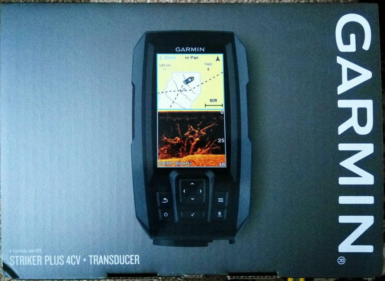Эхолот Garmin Striker 4 CV Plus продам новый. Большой экран, GPS