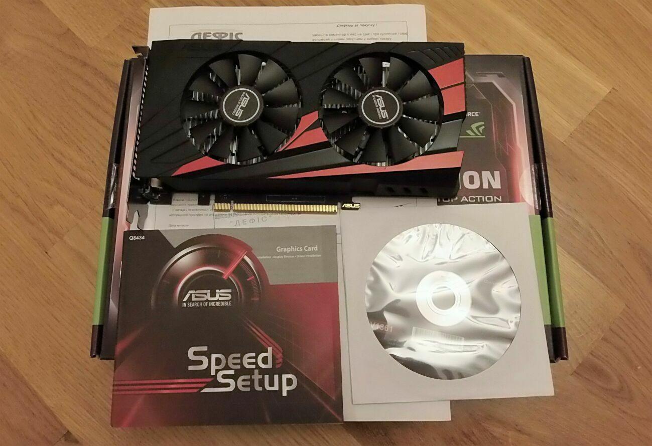 Гарантия! Asus GeForce GTX 1050 OC 2GB (+Бесплатная доставка)