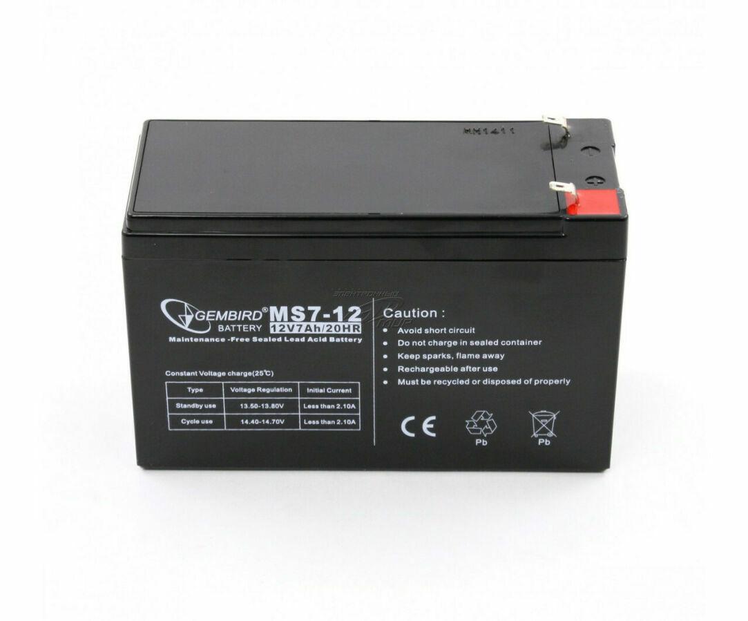 Аккумулятор акб 12 в 7а  для охранных и пожарных сигнализаций