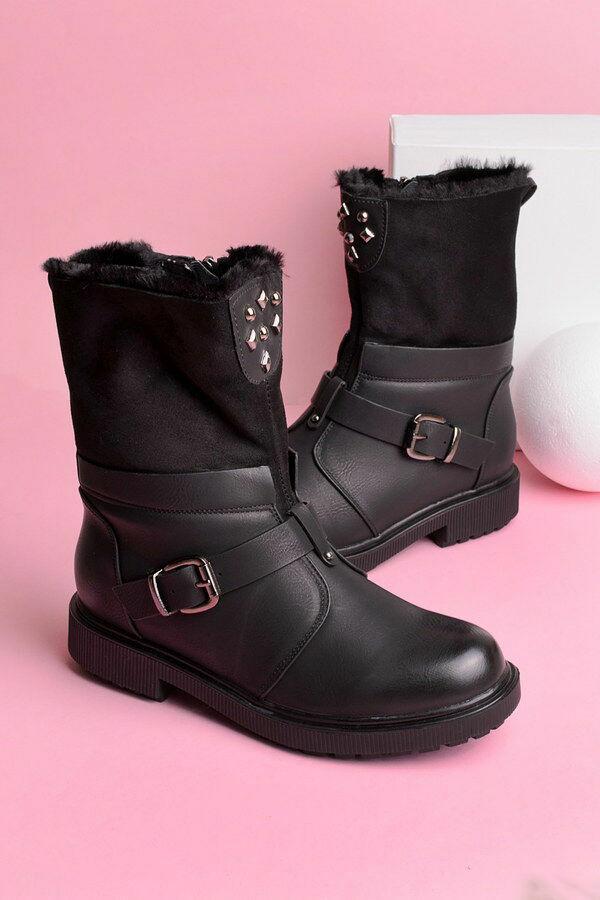 43a514686c72 Женские ботинки с ремешком и заклепками, зимние, новые, 36,37,38,39,41