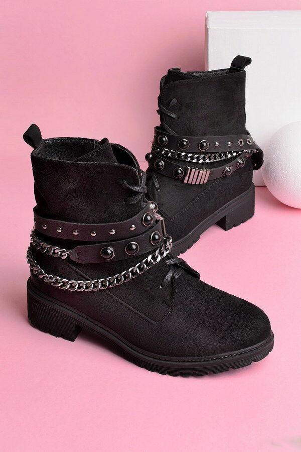 9a17797d16c3 Ботинки с заклепками и цепью, зимние, новые, 36,39,40,41
