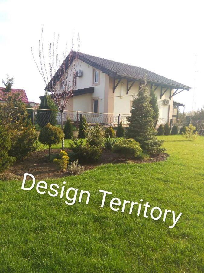 Ландшафтный дизайн, автоматический полив, рулонный газон. кривой рог