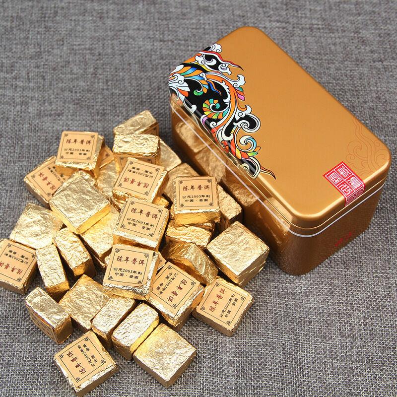 Чай Пуэр 2003года(limited) (в подарочной коробке металл)