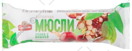 Батончик-мюсли «Спартак» 35 г.