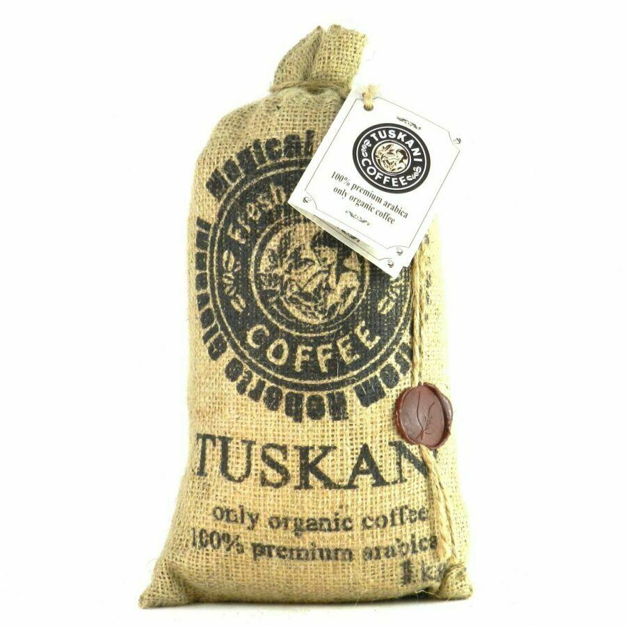 Кава в зернах Tuskani 100% premium arabica 1кг