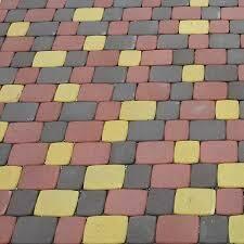 """Тротуарная плитка """"Старый город"""" высота 25 мм. цвет красный,"""