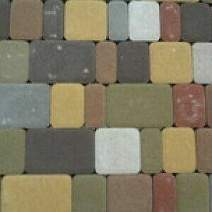 """Тротуарная плитка """"Старый город"""" высота 25 мм. цвет белый"""