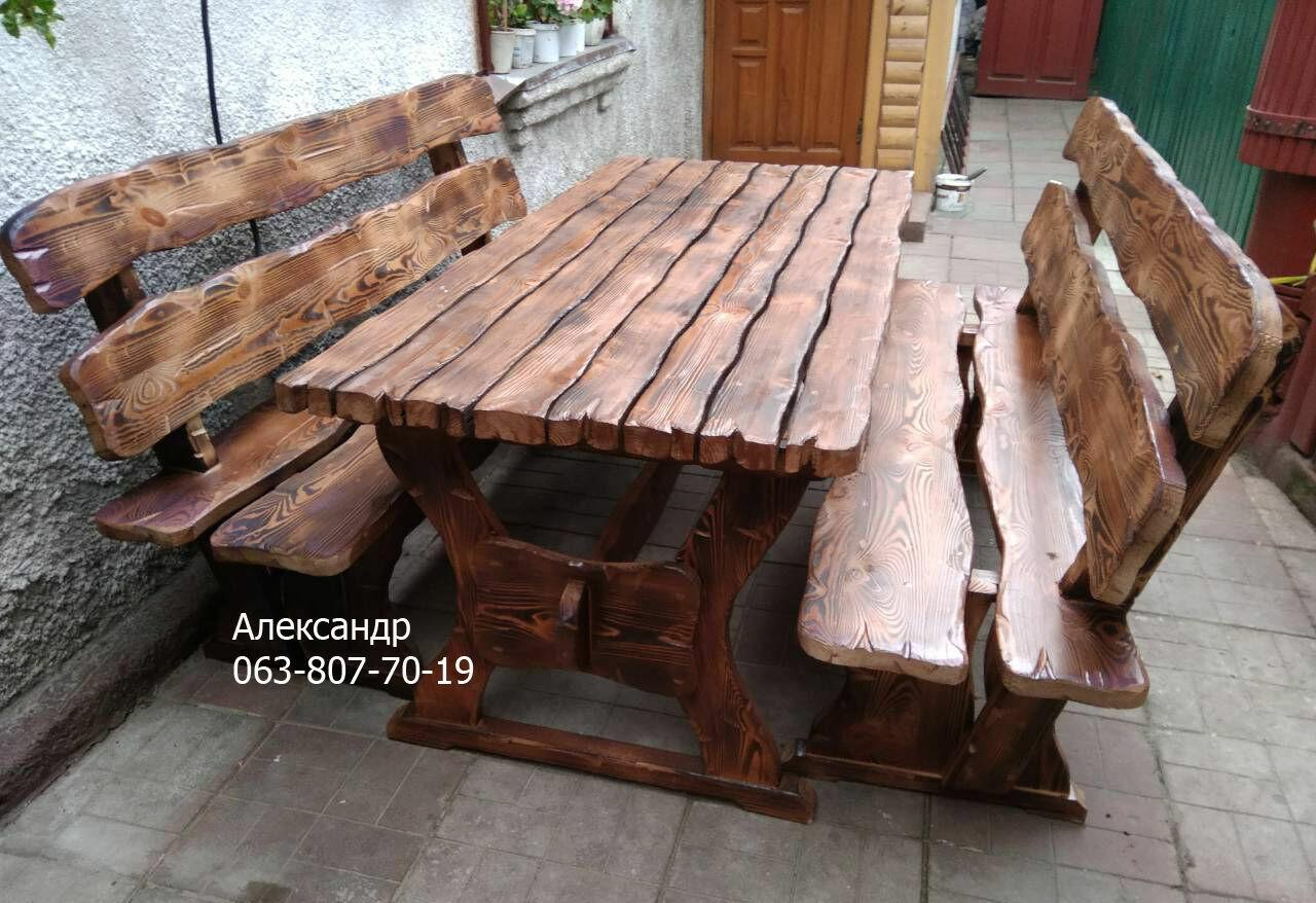 комплект дачный мебель из дерева под старину стол лавки