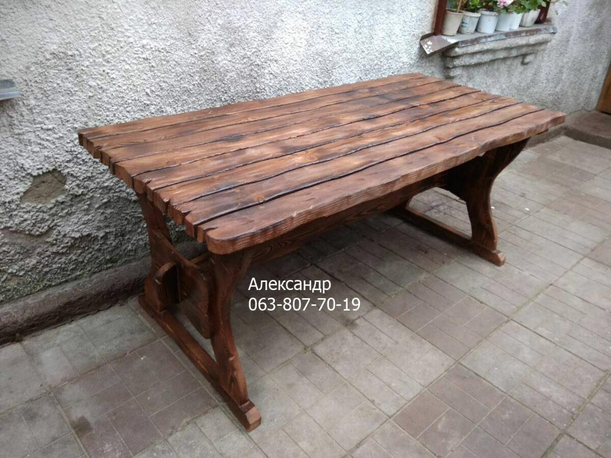 стол дачный из дерева под старину деревянный столы деревянные