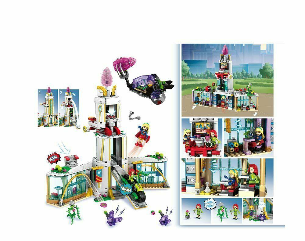 Конструктор JVToy Школа супергероев 749 деталей аналог Lego лего Новый