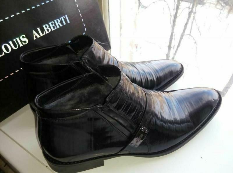 Зимние новые мужские ботинки бренд -Louis Alberti размер-43
