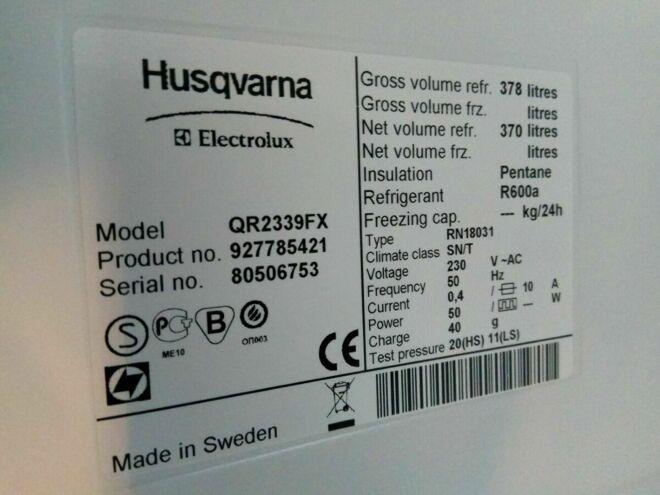 Комлект холодильник и морозильная камера б\у из Швеции 2