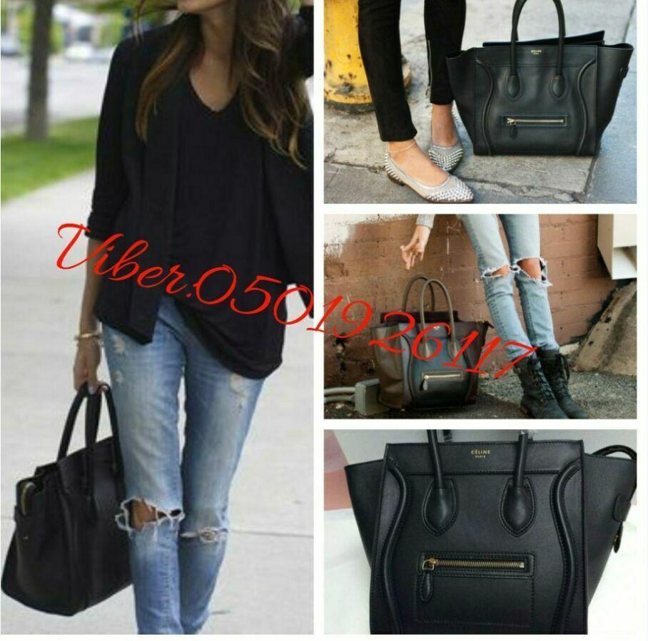 dca42d6935dc Каркасная женская сумка Селин черного цвета , Сумка селин Celine ...