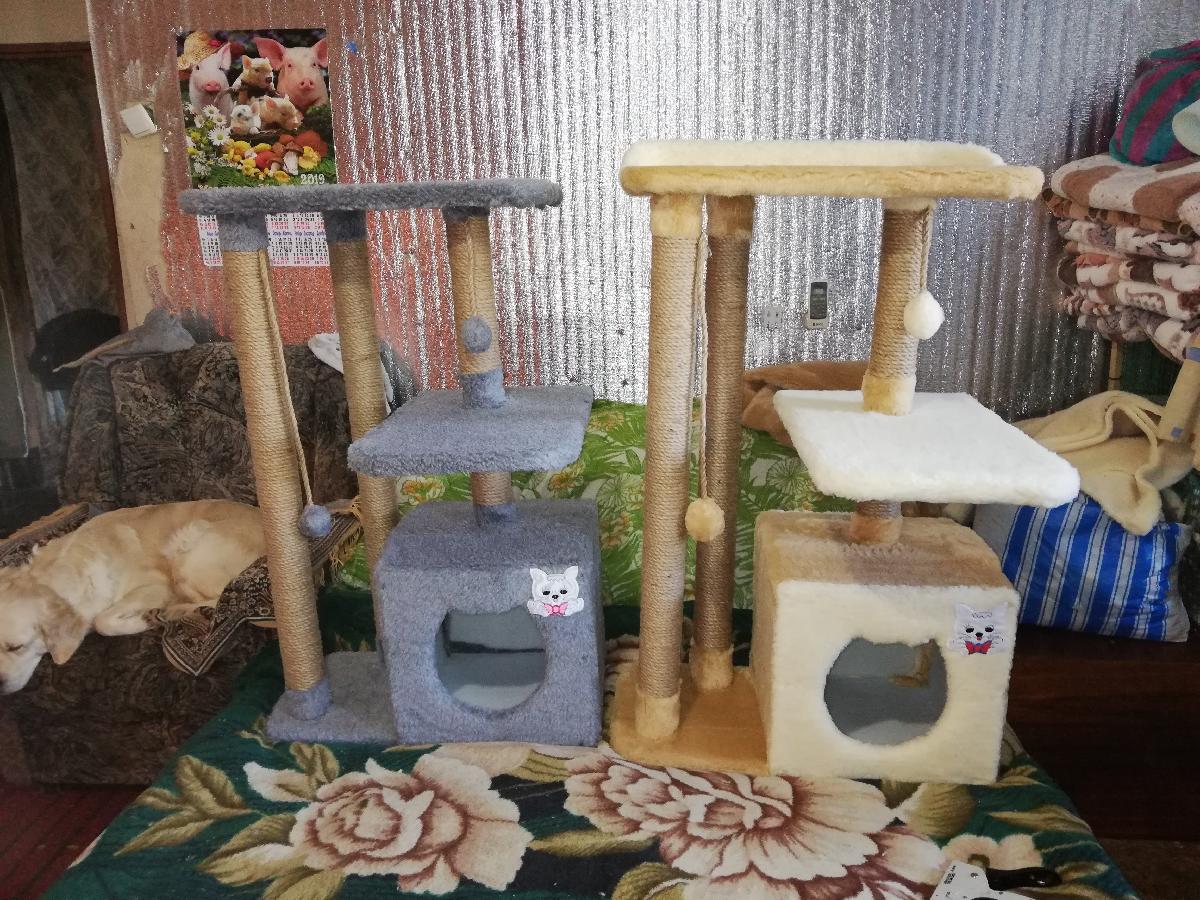 Когтеточка когтедралка лазка домик для кота игровой комплекс