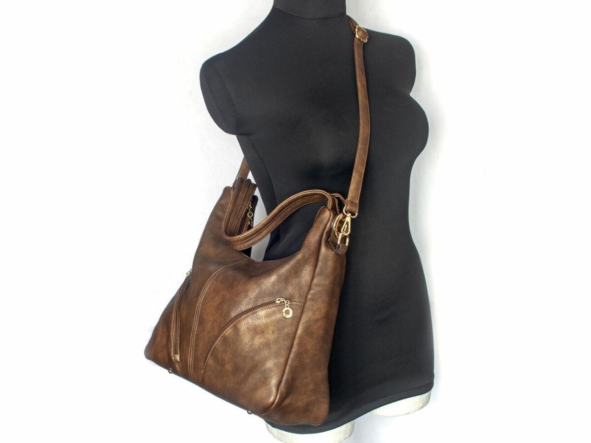 c0e091b68449 Купить сейчас - Сумка женская на плечо, коричневая сумка, экокожа ...