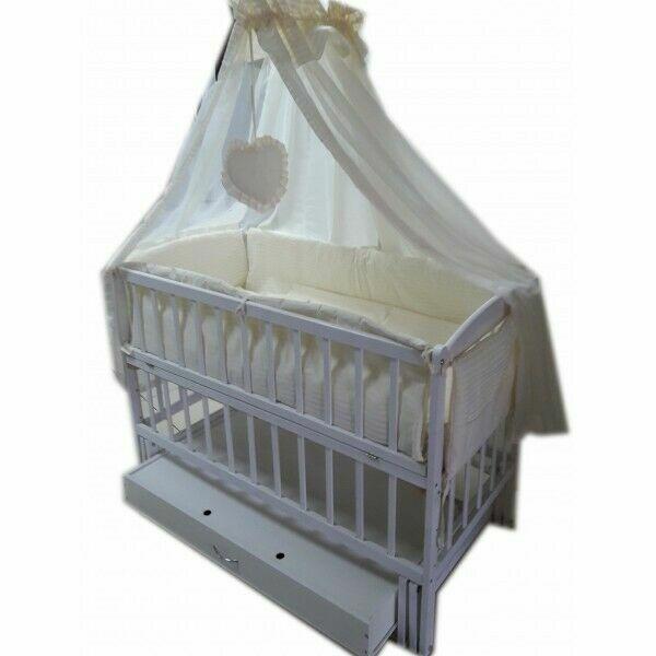 ция! Комплект для сна! Кроватка маятник, ящик, матрас кокос, постель
