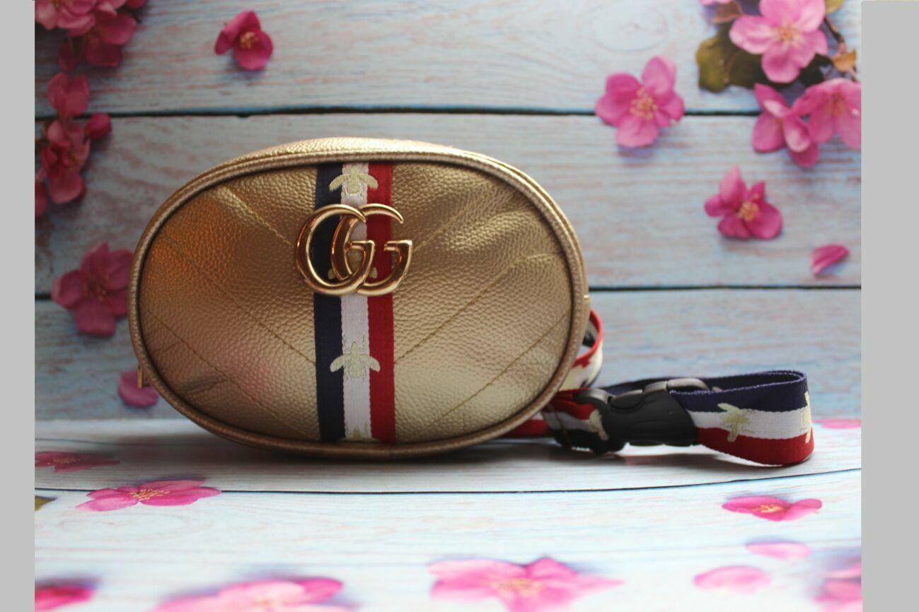 4dd6270d607e Женская Полукруглая бананка (сумка на пояс) Бренд GG Gucci (Гуччи)Д ...