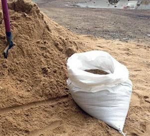 песок-щебень в мешках