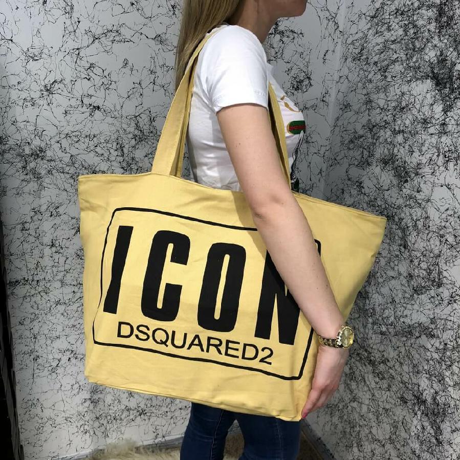 e66677e6772e Пляжная сумка Beach Bag Dsquared2 Icon Cotton Yellow/Black: 650 грн ...