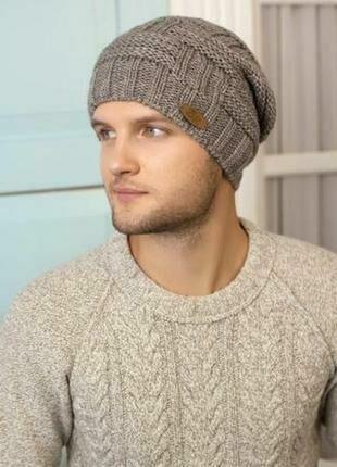 мужская вязаная шапка 220 грн шапки шарфы кепки киев