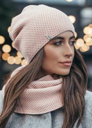 купити зараз вязаный комплект шапка и шарф хомут 530 грн шапки
