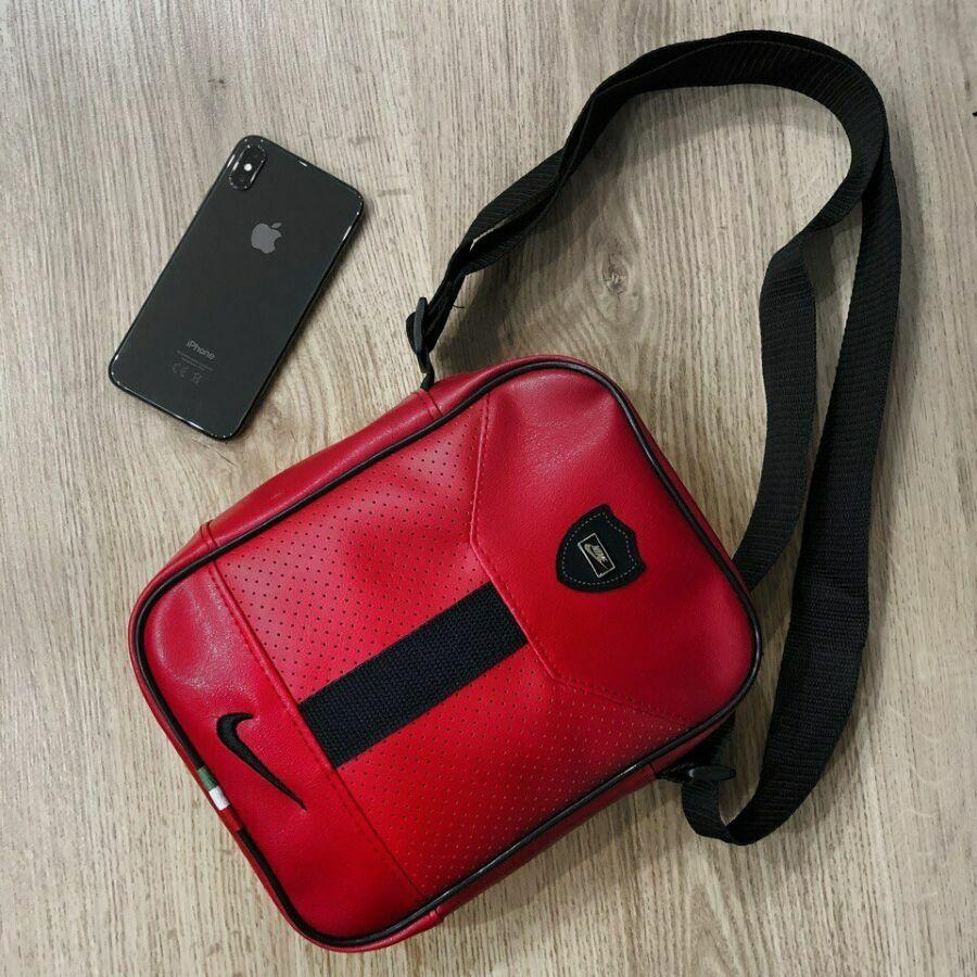 336e6caa96a6 Борсетка мужская сумка через плечо Nike Ferrari красная.: 230 грн ...