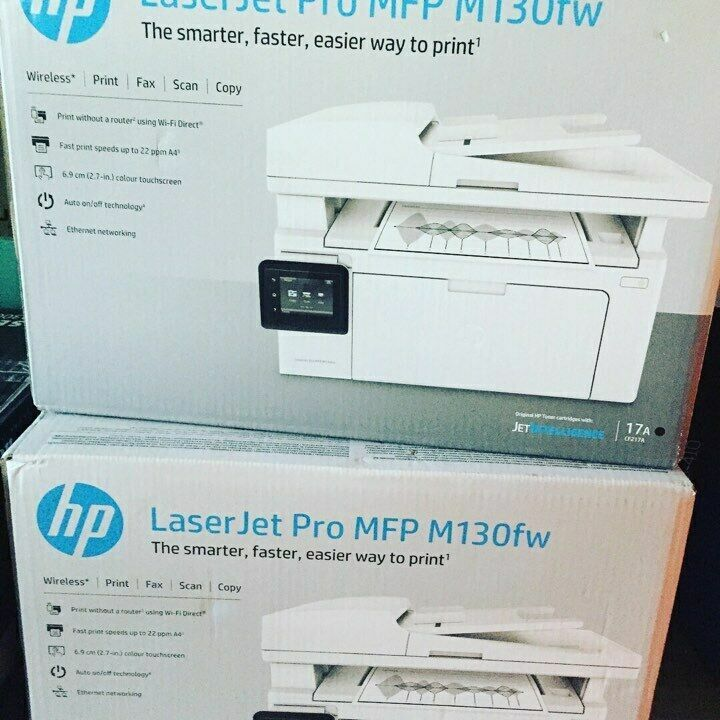 (МФУ) HP LaserJet Pro M130fw + USB cable Лазерный друк Wi-Fi Ethernet