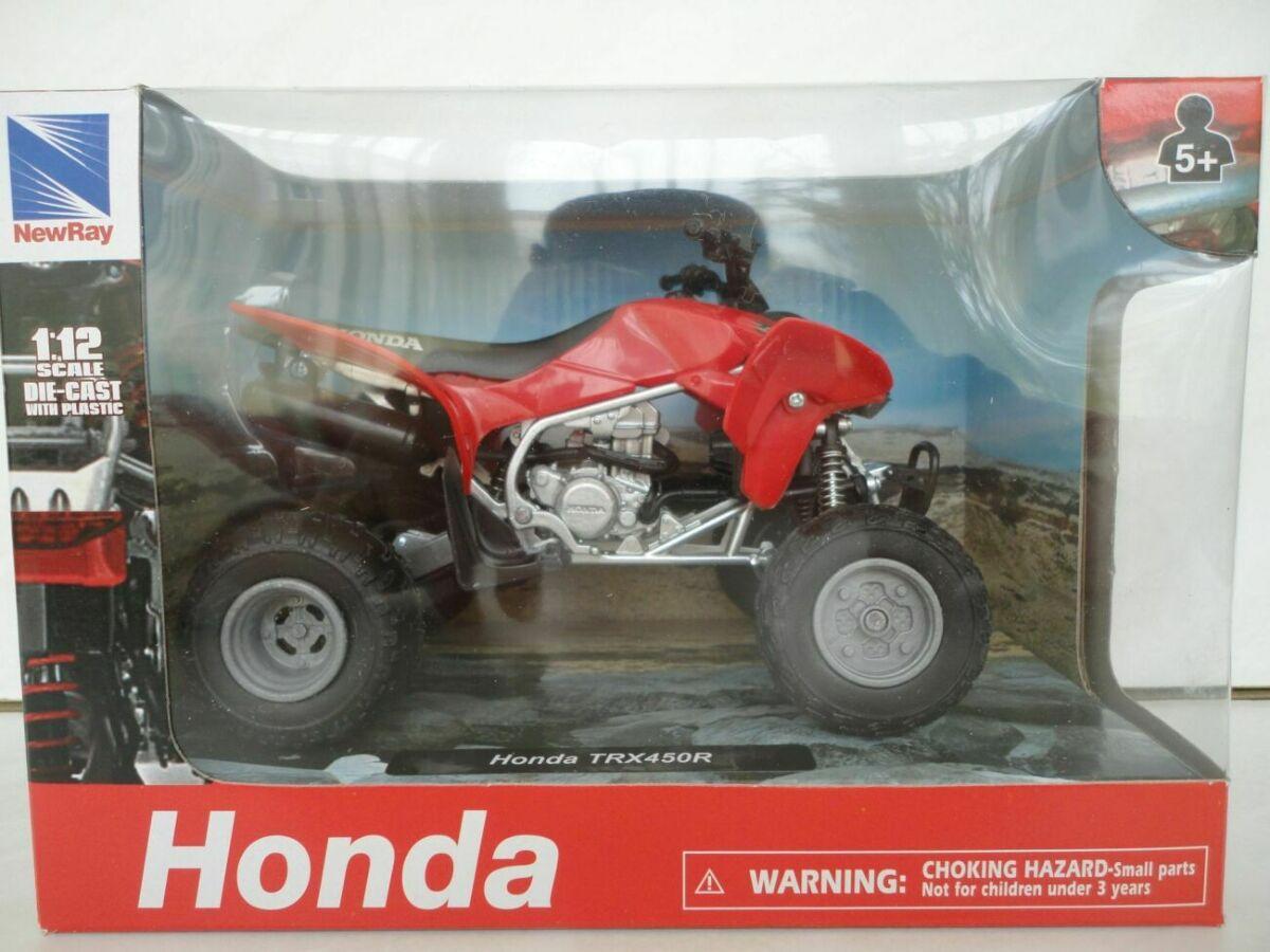Модель квадроцикл 1:12 Honda TRX 450R RED New Ray мотоцикл игрушка