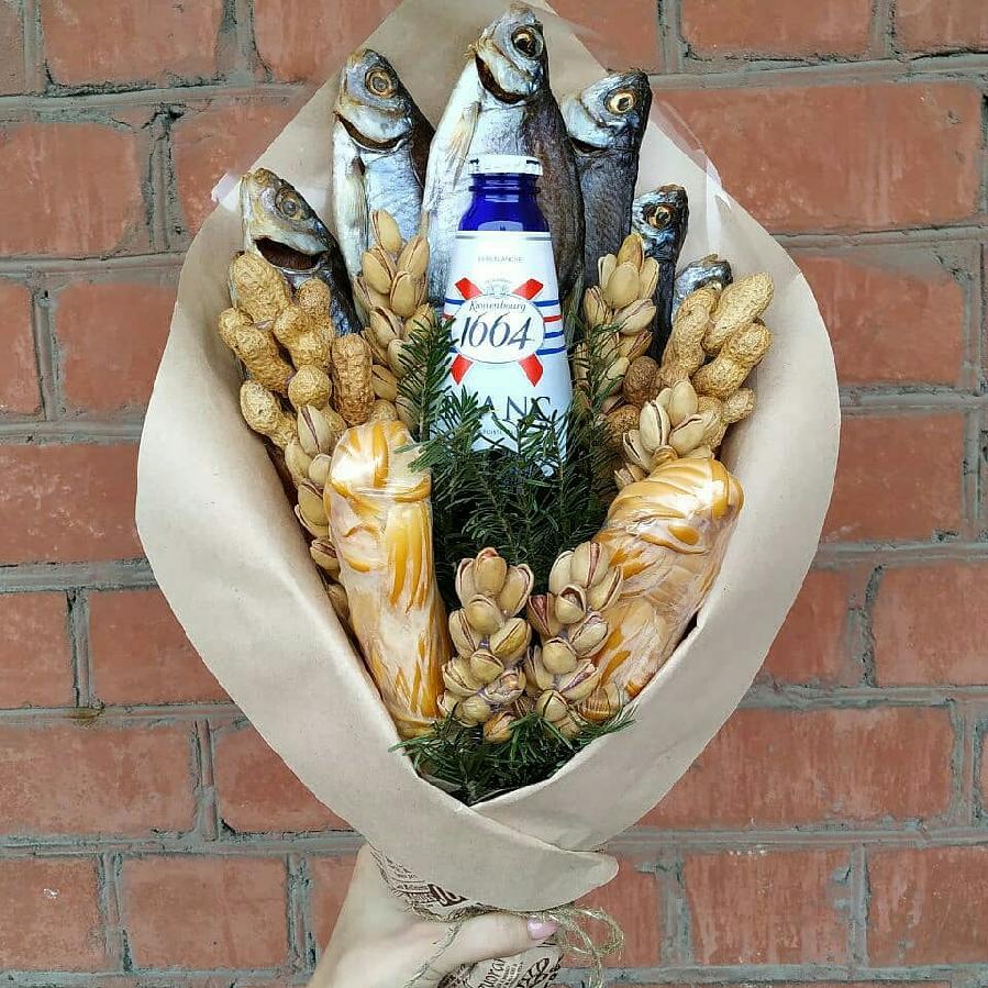 Картинки мужской букет из рыбы и пива, анимации
