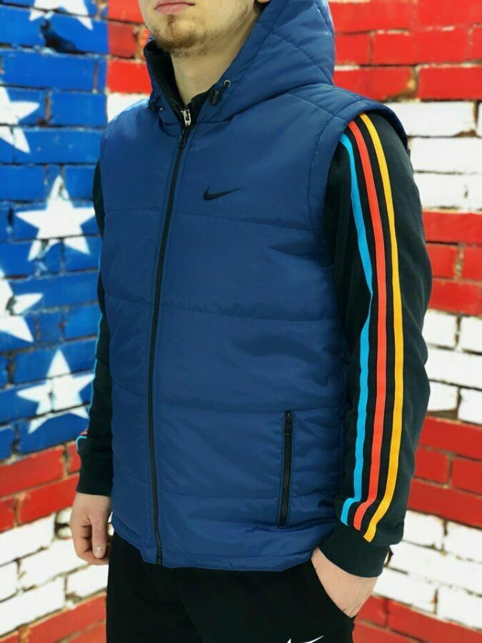 55e0b999 Жилет спортивный Nike синий.Купить безрукавку найк недорого в Украине.
