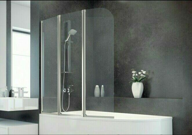 Шторка для ванны Besco 123*140 Новая.