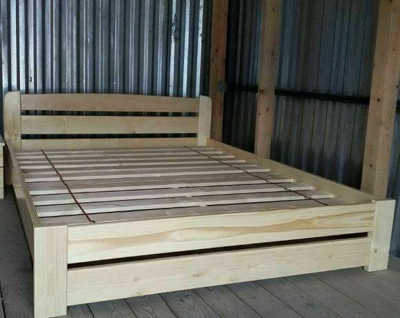 Кровати любых размеров из натурального цельного массива дерева Сосна