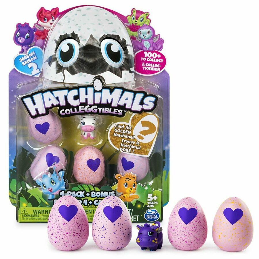 hatchimals хэтчималс набор 4 фигурки в яйцах 1 бонус