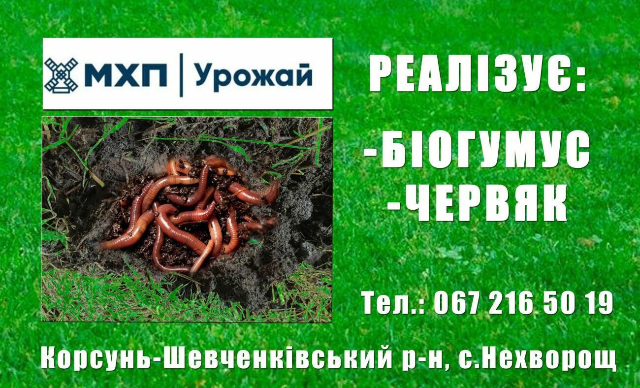 Високоефективне та екологічне добриво Біогумус в мішках 40 кг