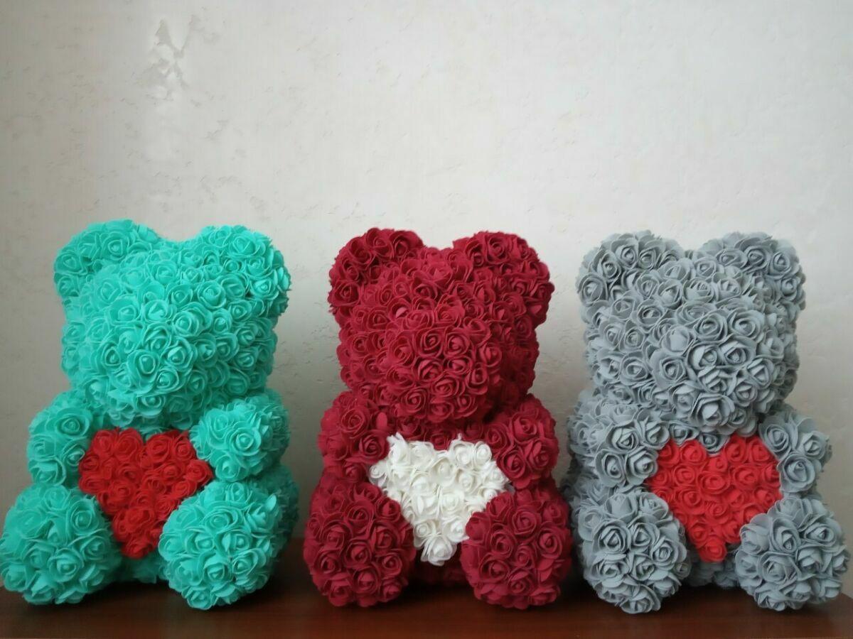 Мишки из роз,+Подарок, Днепр