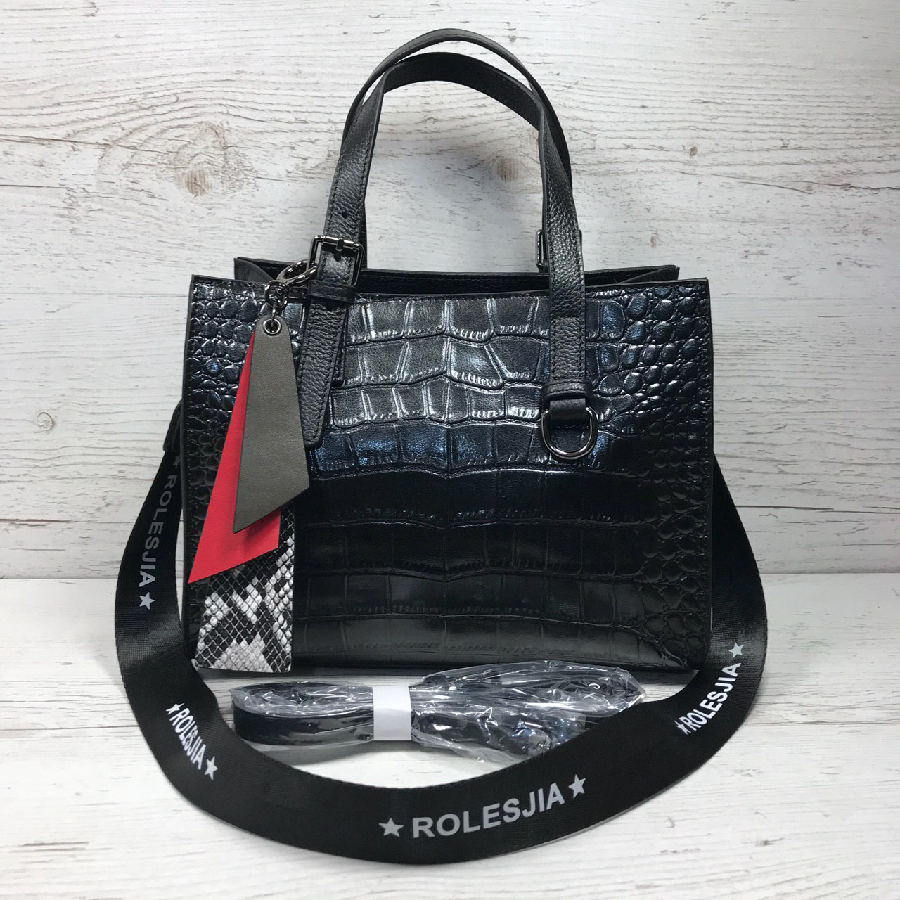 dc914b0f19d3 Женская кожаная сумка черная крокодил жіноча шкіряна сумка чорна : 1 700  грн. - Сумки Одесса - объявления на Бесплатка 68691154