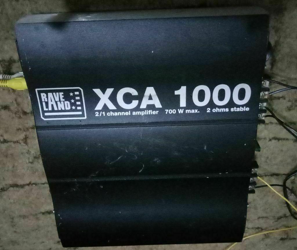 усилитель XCA 1000, 700 W, нагрузка до 2 Ом, от Rave Land