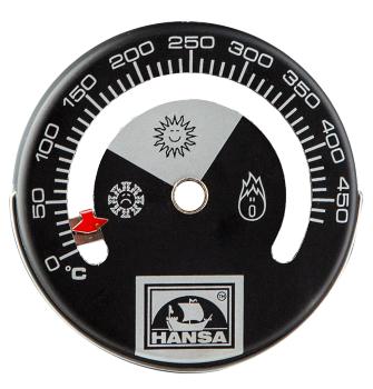 Индикатор температуры для печей, каминов