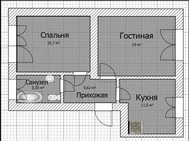 В продаже лучшая 2х комнатная сталинка на ХТЗ