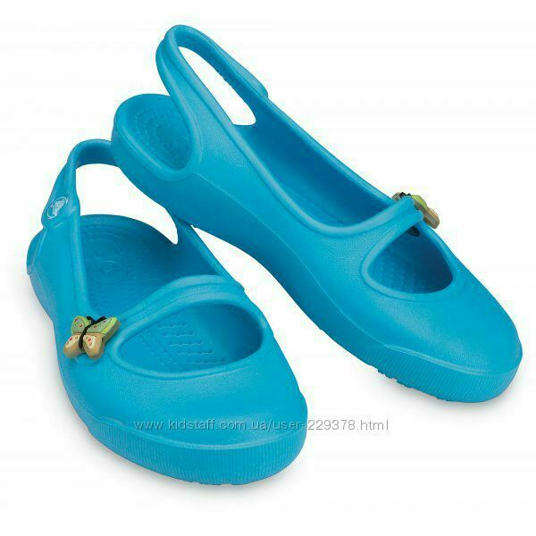71a4d2d2c CROCS Gabby Girls Sandals Flats крокс габи c7-14.5cm балетки оригинал