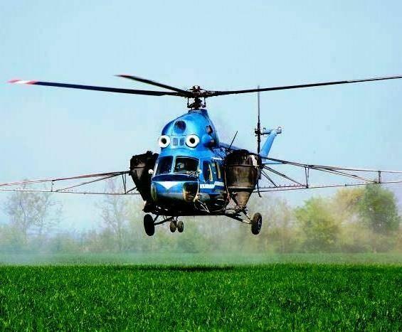 Обробка полів вертольотами