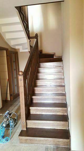 Сходи; Stairs; Лестницы. Балясини і підсходинки (дубові
