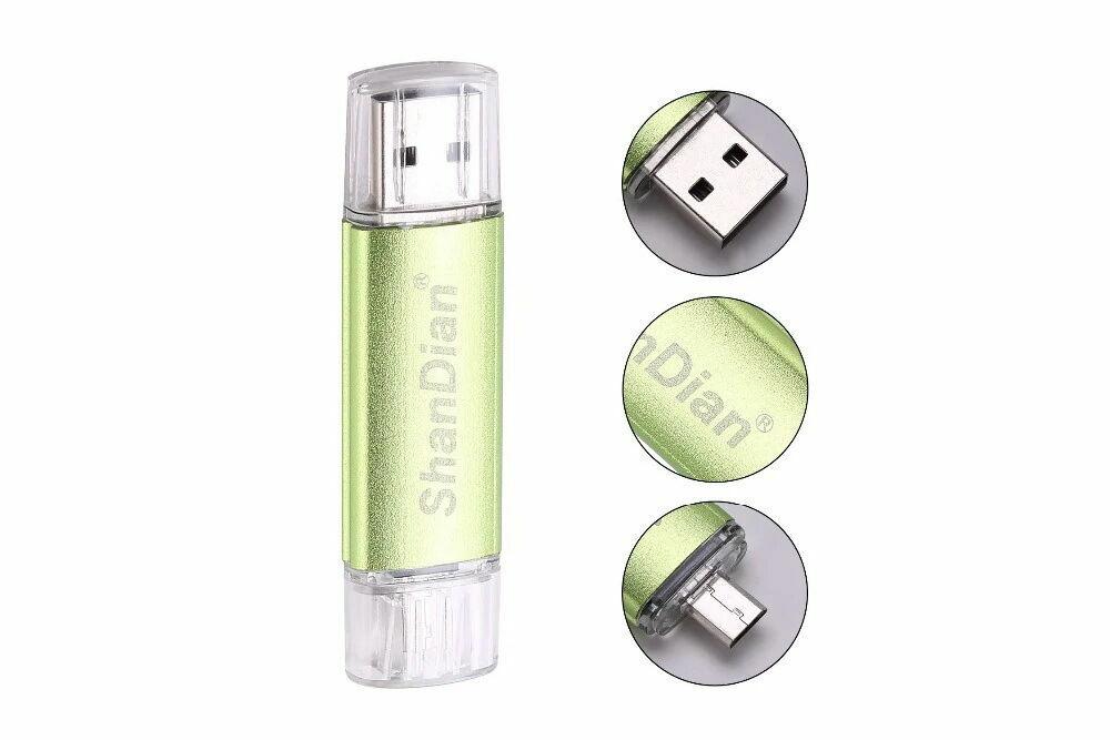 Двусторонняя флешка USB - OTG micro USB. Ассортимент. Flash Drive 64GB