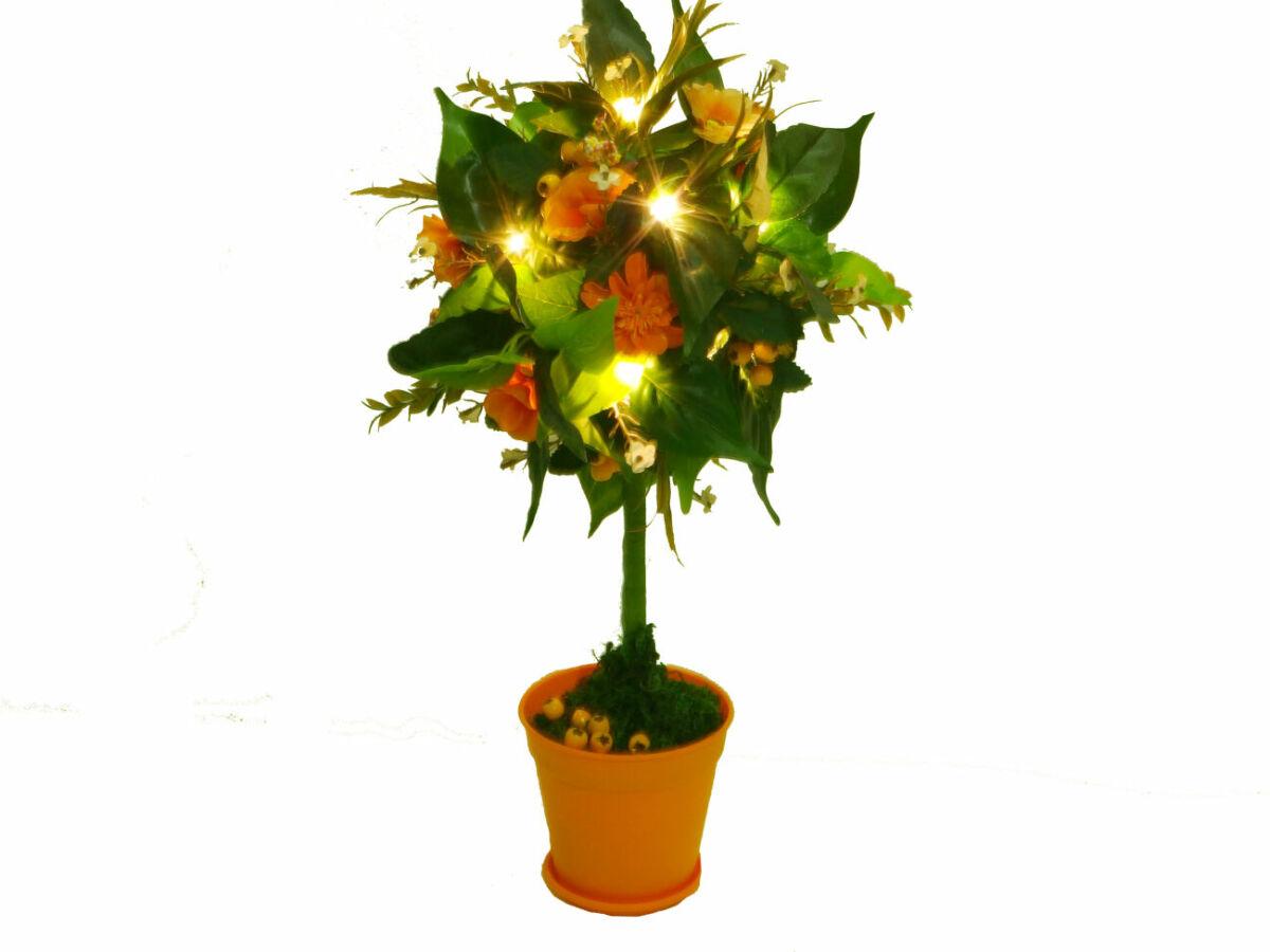 Декоративне дерево - топіарій Помаранчеве небо світильник подарунок