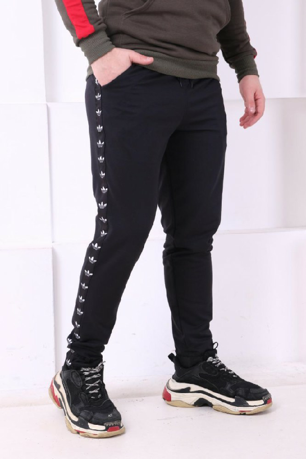 224a976c Купить сейчас - Спортивные штаны с лампасами Adidas ч\ч: 450 грн ...