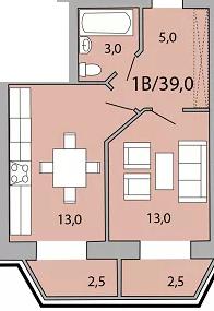 1км квартира в Цетрі! №391