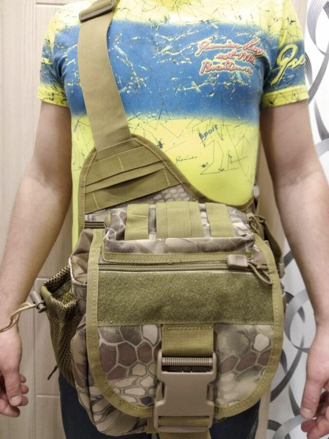 Тактическая сумка, подсумок, сумка спиннингиста 25х30см Криптек