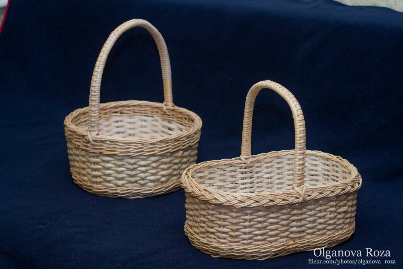 Корзина плетеная для пасхи и подарочных наборов кошик плетений з лози