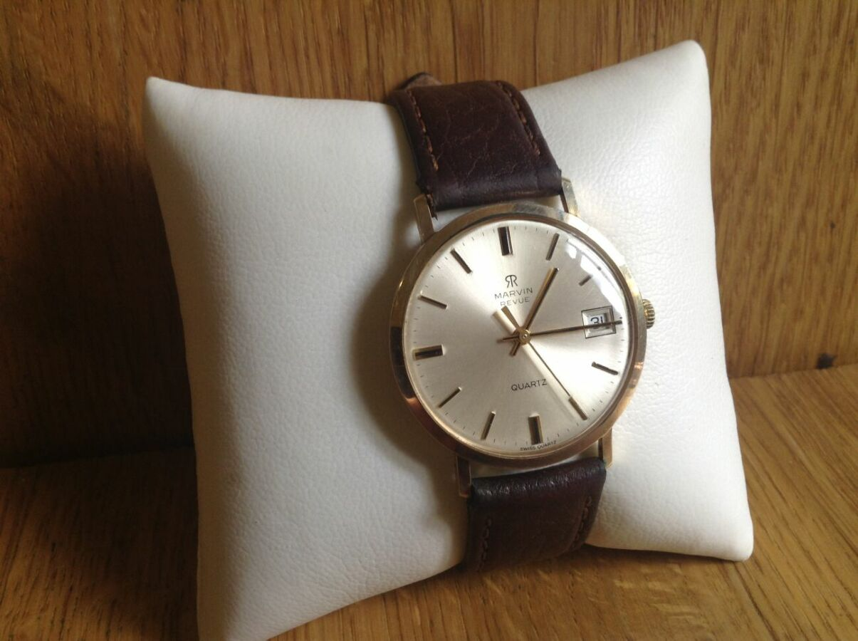 881693f5 Мужские, Швейцарские золотые часы MARVIN revue, 375-я проба.: 15 000 ...